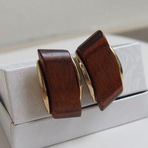 Mod Vintage Wooden Earrings